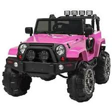 jeep wrangler pink jeep wrangler pink 12v battery ride on car truck rc remote control 3