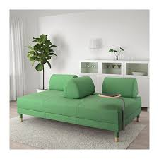 Green Sofa Bed Flottebo Sleeper Sofa With Side Table Lysed Green Ikea