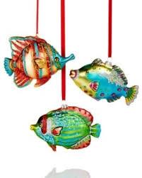deal alert set of 3 tropical fish glass