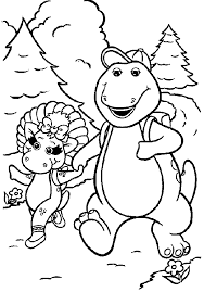 free download barney coloring pages 43 additional