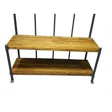 industrial coat rack and storage bench modern hallway storage