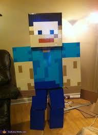 awesome diy minecraft steve costume