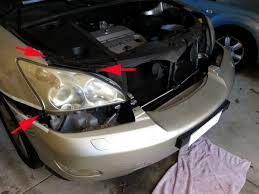 lexus rx330 bumper lexus rx330 2nd gen how to paint headlight housing clublexus