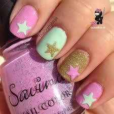 mint pink spring nails the crafty ninja