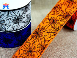 2015 spider web halloween wired ribbon buy cheap wired ribbon