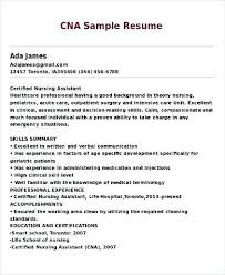 nursing assistant resume sle cna resume with experience certified nursing assistant
