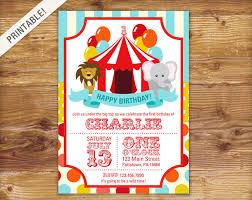 birthday carnival invite circus invitation carnival
