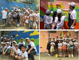 nippon paint china cares for left behind children painting