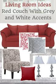 Living Room Setup Living Room Ideas Red Couch With Grey And White Accents Living