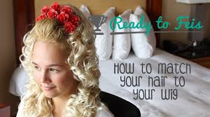 hairstyles for an irish dancing feis how to make your hair color match your wig for irish dance youtube