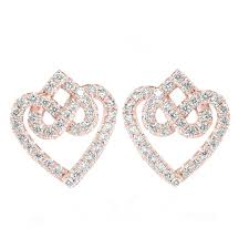 stud diamond earrings unique infinity knot stud diamond earrings hearts diamond