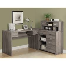 monarch cappuccino hollow core l shaped home office desk walmart com
