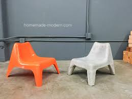 Modern Plastic Chairs Homemade Modern Ep100 Diy Concrete Chair