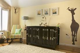 Nursery Room Rocking Chair by Bedroom Fabulous Animal Mural On Cream Wallpaper In Old Fashioned