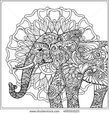 hand drawn artistic ethnic ornamental patterned stock vector