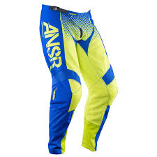 answer motocross gear answer racing mx pants syncron acid blue spring 2017 maciag offroad