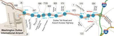 Washington Airport Map by Virginia State Route 267