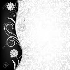 Invitation Card Border Design Jewelry Border On White Lace Background Invitation Card Royalty