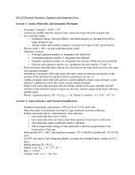 How To Make A Functional Resume 56064972 Study Sheet Physical Chemistry