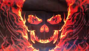Cool Rebel Flags Skull Fire 5 X 3 Flag