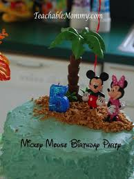 Luau Cake Decorations Mickey Mouse Clubhouse Luau Birthday Party Teachable Mommy