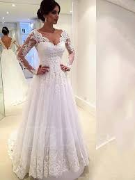 backless lace wedding dresses v neck backless sleeve court lace wedding dress tbdress