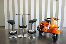 Recycling Office Furniture by Office Chair Orange Recycling Ideas Old Vespa Motor Scooter