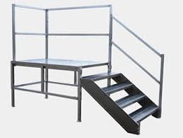 metal stairs aluminum access stairs redd team