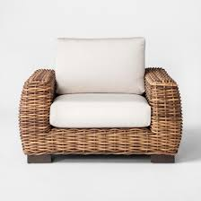 Patio Club Chair Smith Hawken Eldridge Wicker Patio Club Chair With Sunbrella