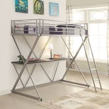 Loft Bed With Computer Desk Viv Rae Rachelle Workstation Loft Bunk Bed With Desk U0026 Reviews