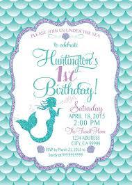 Invatations Mermaid Birthday Invitations Marialonghi Com