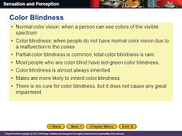 People Who Are Color Blind Chapter 4 Sensation And Perception Ppt Online Download