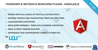 download taxonomy metadata searching wordpress plugin angular js free