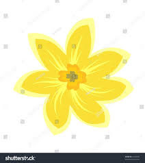 cartoon illustration flowers vector stock vector 52460587