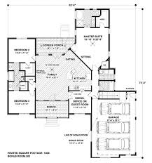 2 bedroom ranch floor plans craftsman style house plan 4 beds 3 00 baths 1800 sq ft plan 56 557