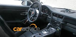 porsche 911 inside 2016 porsche 911 turbo facelifted model spied inside and out