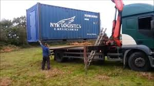 shipping container house uk part 2 delivery and temporary