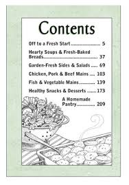 cookbook table of contents good for you every day meals a gooseberry patch cookbook review