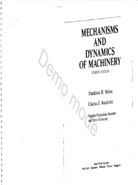 hamilton horth mabie charles f reinholtz mechanisms and dynamics