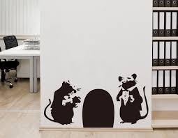 rat hole from banksy on your wall it s possible banksy rat hole banksy wall sticker