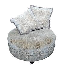animal print upholstered ottoman with pillows ebth