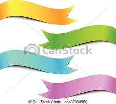 colorful ribbon colorful ribbon banner set white background vector clipart