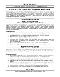 Retail Store Manager Resume Example by Operations Manager Resume