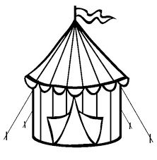 Circus Tent Coloring Pages Coloringstar Circus Coloring Page