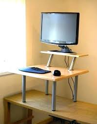 Diy Stand Up Desk Stand Up Desk Conversion Standing Adapter Uk Vuse For In Design 5