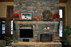 christmas fireplace garland ideas for small interior mantel
