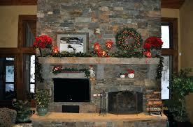 Chimney Decoration Ideas Christmas Fireplace Garland Ideas For Small Interior Mantel