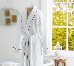 hotel piped trim robe pottery barn