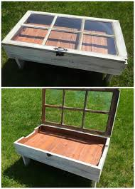 Wooden Pallet Coffee Table Diy Wood Pallet Window Coffee Table Crafty Morning