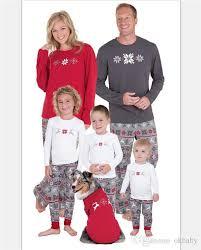 retail family pajamas sets snowflake printed family